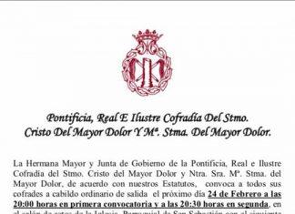 CABILDO MAYOR DOLOR ANTEQUERA