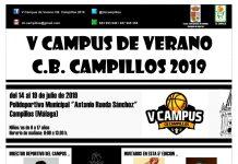 Cartel V Campus de Verano del CB Campillos